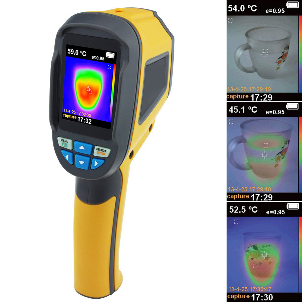 VKTECH Infrared Thermometer Handheld Thermal Imaging Camera 6HZ Portable IR Thermal Imager Infrared Imaging Device professional handheld thermal imaging camera ht 04 portable infrared thermometer ir thermal imager infrared imaging device
