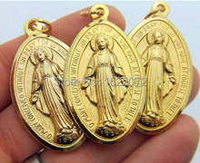 High quality and low price  Miraculous Medal HUGE Gold Tone Metal Gift FH810030