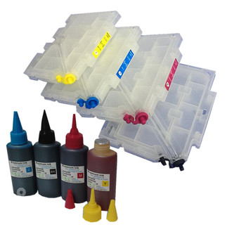 GC31 refillable ink cartridge + 1 set sublimation ink for Ricoh GXE3300/GXE5500/GXE2600/GXE5050N/GXE5550N with chip