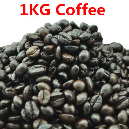 1KG High-quality Vietnam Coffee Beans Original Baking charcoal roasted Organic food Vina green slimming coffee tea Free shipping