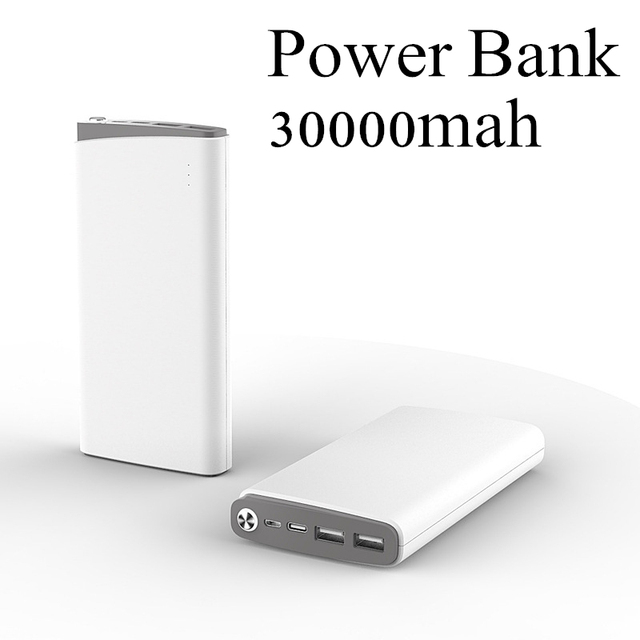 Power Bank 30000mah 18650 Portable External Battery Bank Pack Powerbank 30000mah Mobile Charger for iPhone and Tablets poverbank