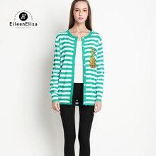 Women Coat Sweate Jacket 2017 Runway Striped Thin Coat Women Jacket