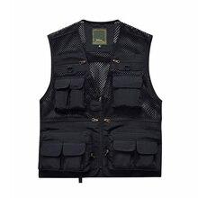 2019 New M-XXXL Men Women Fishing Vest Jacket Outdoor Hiking Hunting Multi Pocket Waistcoat Fishing Jackets tactical