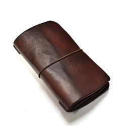 Genuine Leather Original Handmade Men Wallet Retro Trend Luxury Long Man Purse High Quality Wallets Cards Holder Passport Purses