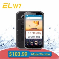 Original E L W7 Mobile Phone Android 6 0 Waterproof Phones 5 0 HD Quad Core