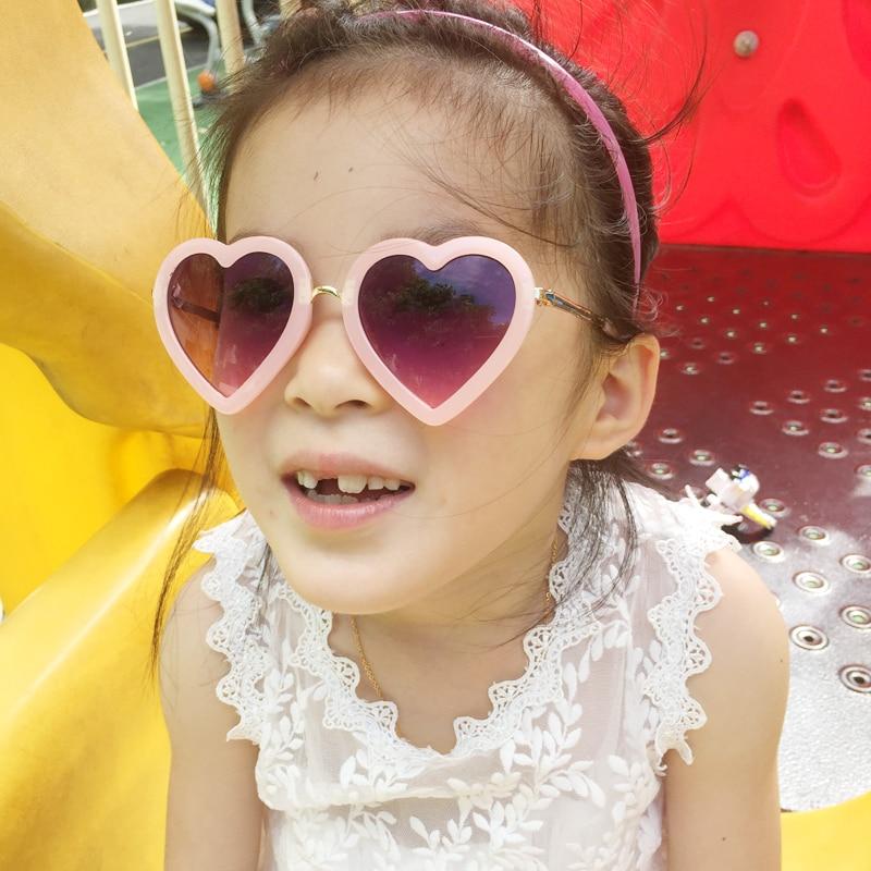 2019 roztomilé srdce dětské sluneční brýle dítě UV400 ochrana kojenecké sluneční brýle dětské dívky oculos de sol krásné dětské brýle N801