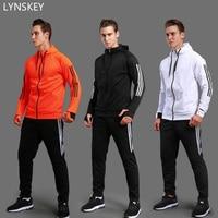 LYNSKEY Soccer Jacket Tập Thể Dục phòng tập thể dục Phù Hợp Với Đào Tạo Bóng Đá Đội Mũ Trùm Đầu Dài Tay Áo Thể Thao Chạy Đặt người đàn ông và phụ nữ những người yêu thích áo khoác
