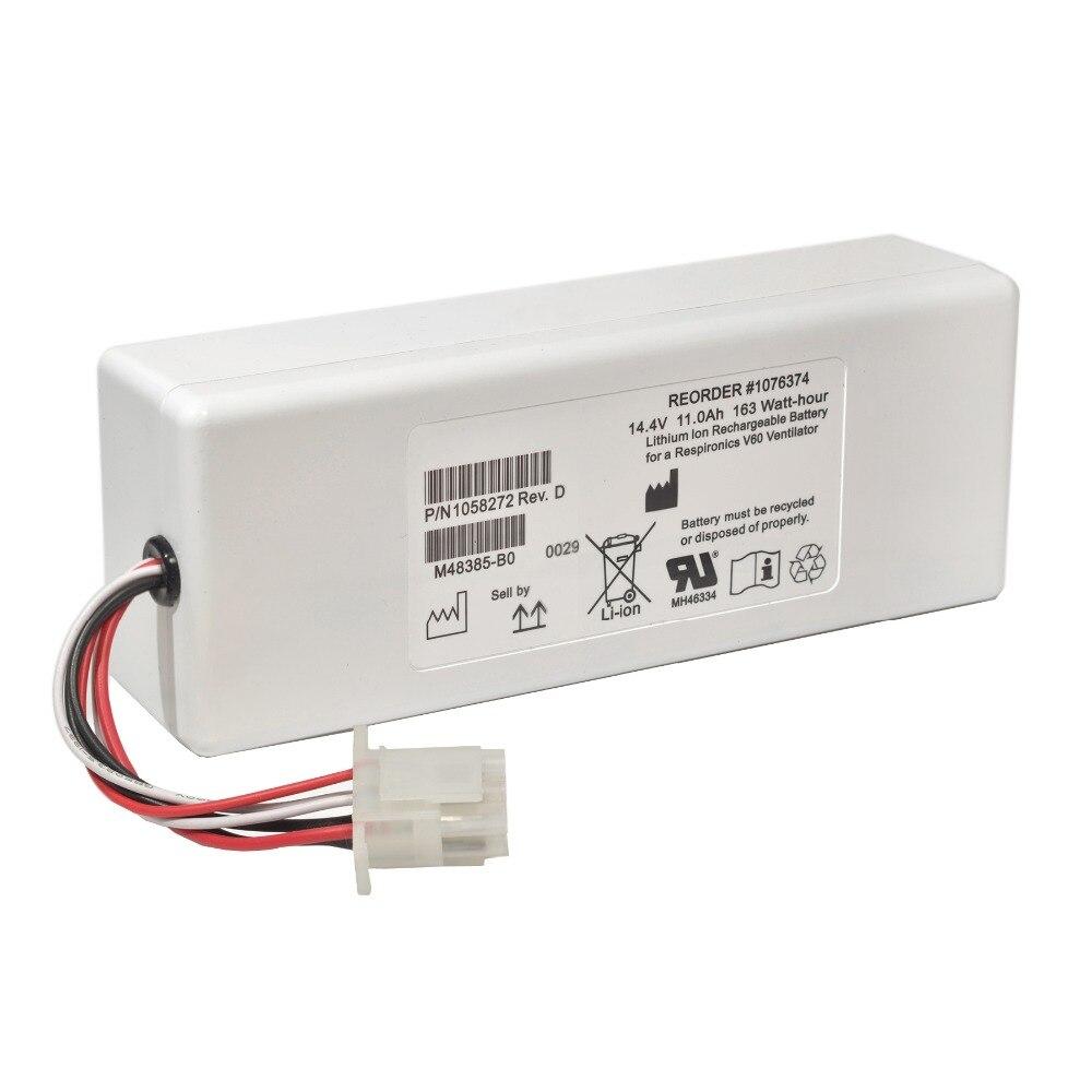 11000 mAh nouvelle batterie de ventilateur à entraînement électrique pour RESPIRATEUR Philips V60 V60S 88881344 1076374 1058272 1076374 107674