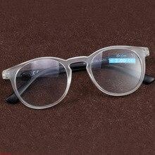 Round Ultra Light Reading Glasses Women Men Anti Fatigue Hyperopia Prescription