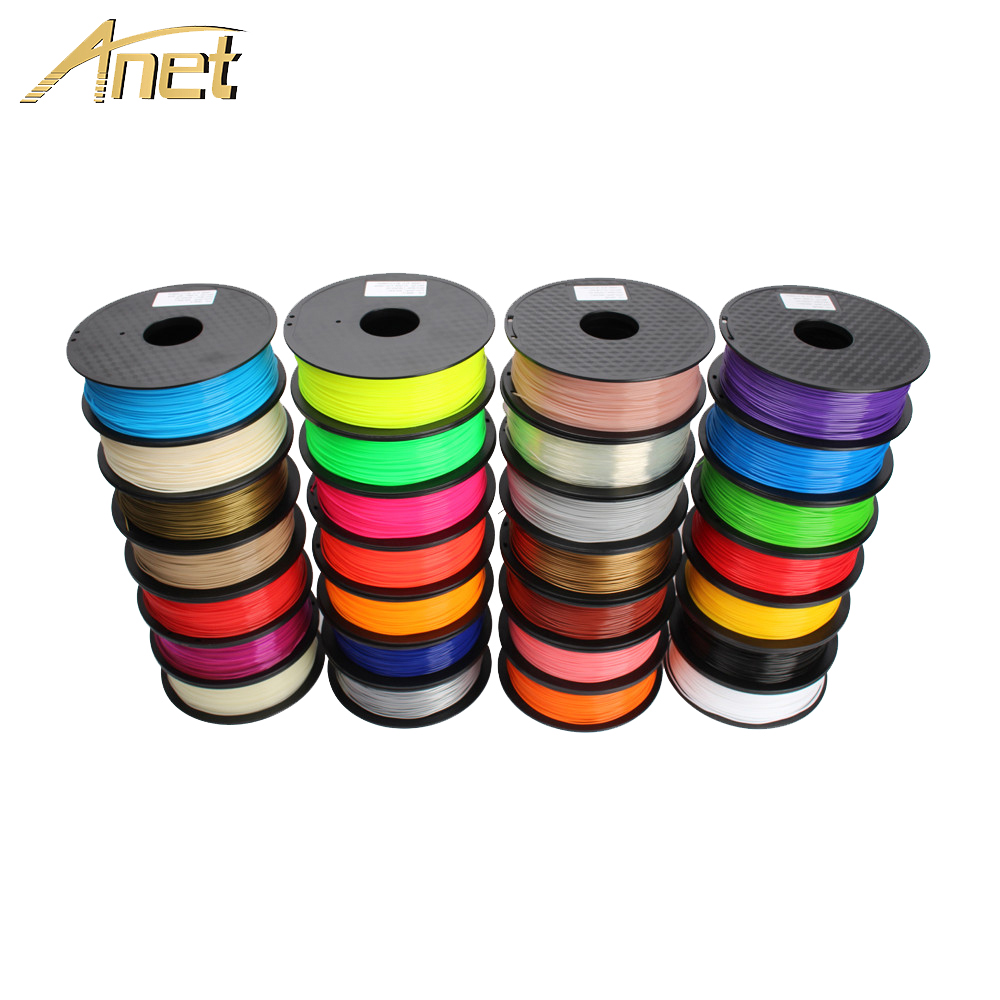 10pcs Anet 3D 1kg PLA PLA Impressora de Filamento 1.75 milímetros 0.5kg ABS filamento 3D Filamento Impressora para impressora 3D 3D Suprimentos Caneta de plástico