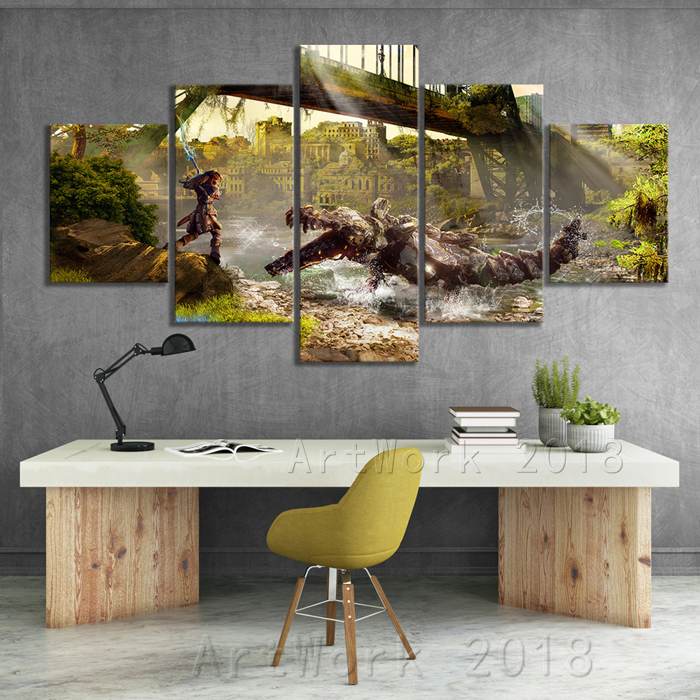 Horizon Zero Dawn Video Games Art Frameless Paintings Creative Birthday Present Fantasy Wall Art Canvas Paintings for Wall Decor 1
