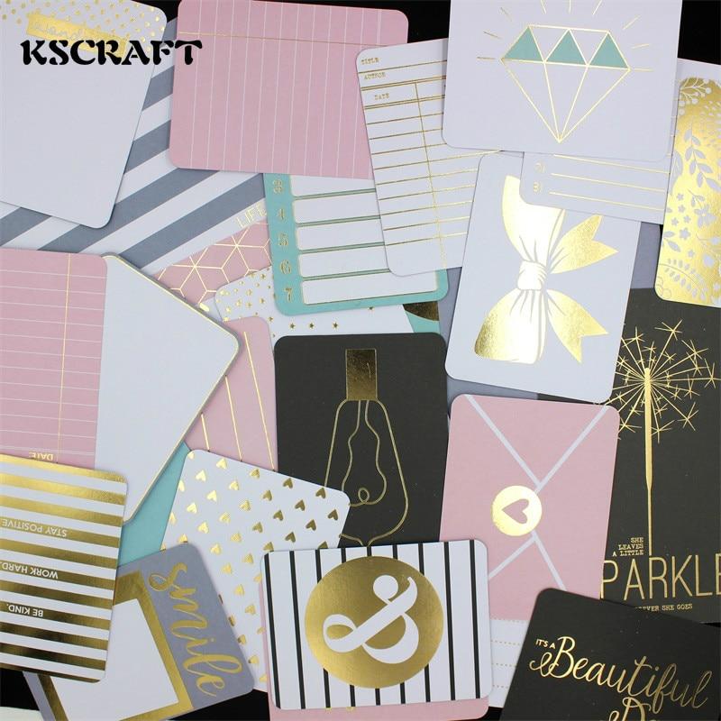 KSCRAFT 36 pcs Double-côté Imprimé Carton Découpes pour Scrapbooking Heureux Planificateur/Fabrication De Cartes/Journalisation Projet