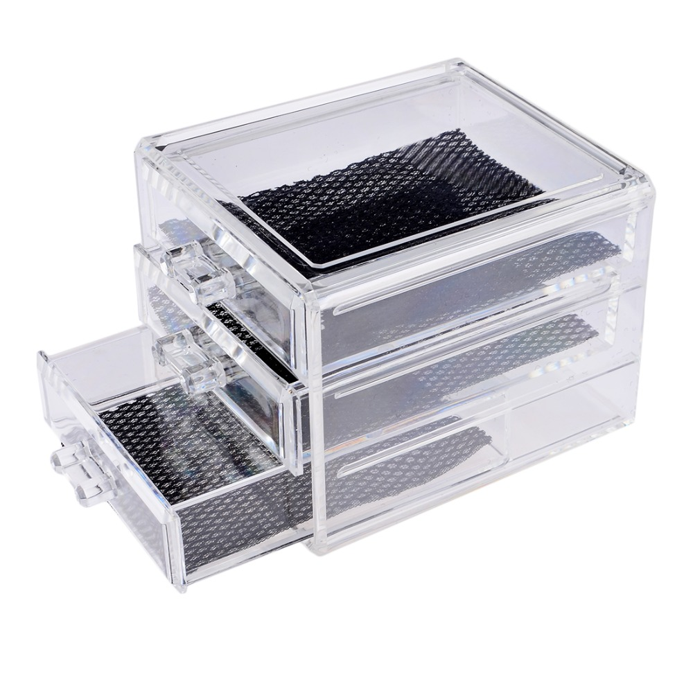 HIPSTEEN Acrylic Make Up Organizer 3 Drawers Storage Box Clear Plastic  Cosmetic Storage Box Organizers Clear Cotton Pads Box In Storage Boxes U0026  Bins From ... Part 65