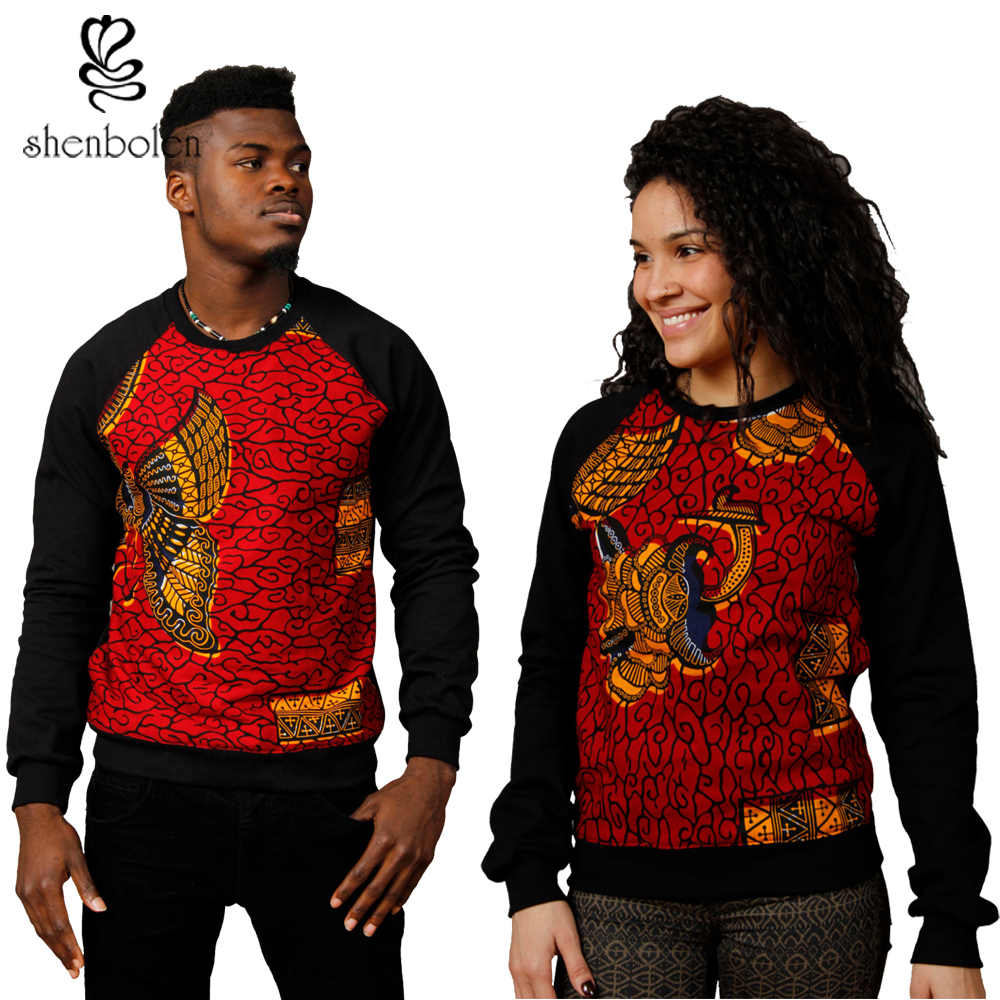 Shenbolen 2018 african clothing Couples dress ankara style wax print ...