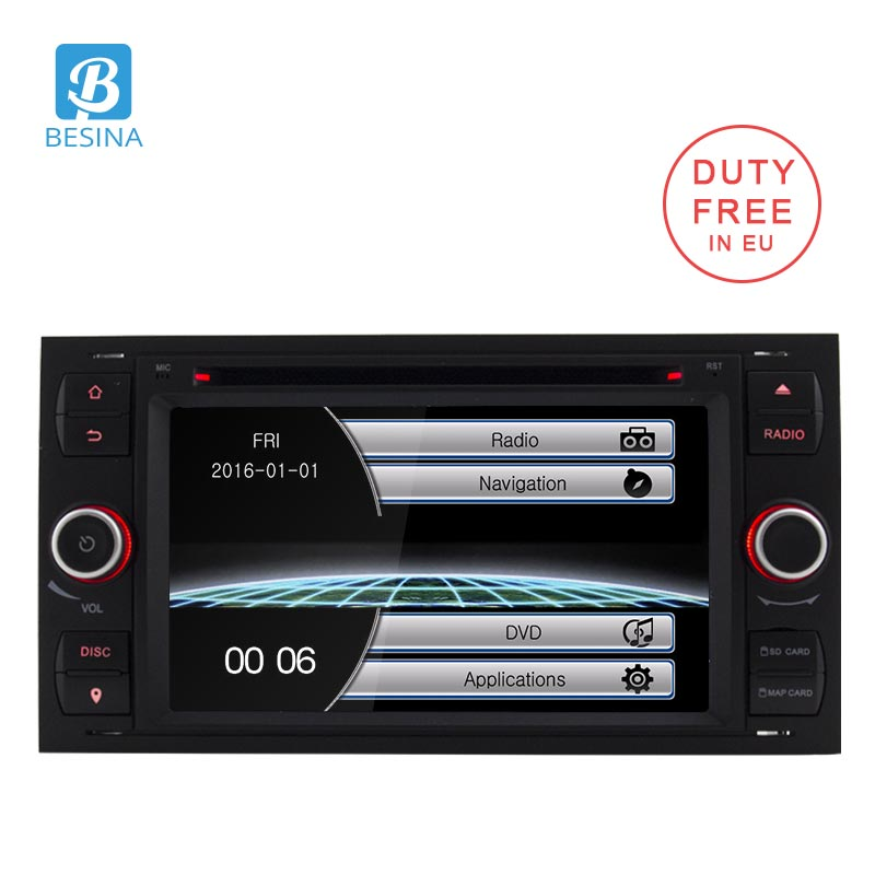 Besina 2 Din Car DVD Player For Ford Focus/Focus 2 Kuga Mondeo Connect Transit Fiesta Galaxy Fusion Radio Multimedia Autoaudio