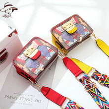 Transparent Bag Fashion 2018 New Pattern Summer Color Gril's Crossbody Bag Printing Day Clutch Ladies Commuter Bag Women Totes