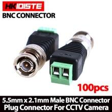 100 шт. мини коаксиальный cat5 bnc разъем для камеры cctv bnc видео балун разъем адаптера