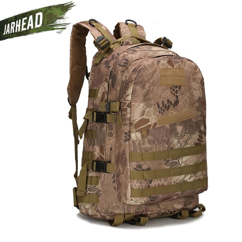 Paketim shpine sportive në natyrë me cilësi të lartë Najloni taktike ushtarake Kamuflazh Ngjitje në shpinës burra Udhëtimi Kamping Qëndrimi