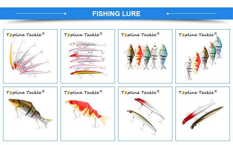 Topline equipamento de pesca jigging carretel alumínio