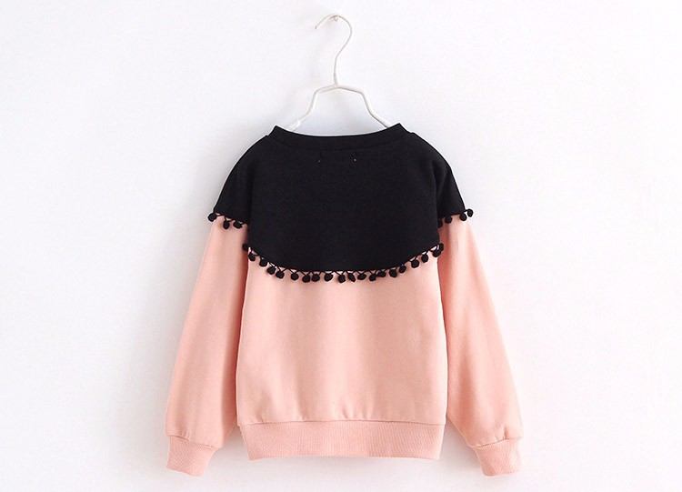 HTB1cgmIIpXXXXcNXVXXq6xXFXXX3 - Children Girls shirt tops 2017 Spring Fashion Color patched 100% cotton knitted Snow Ball long-sleeved loose shirts for girls