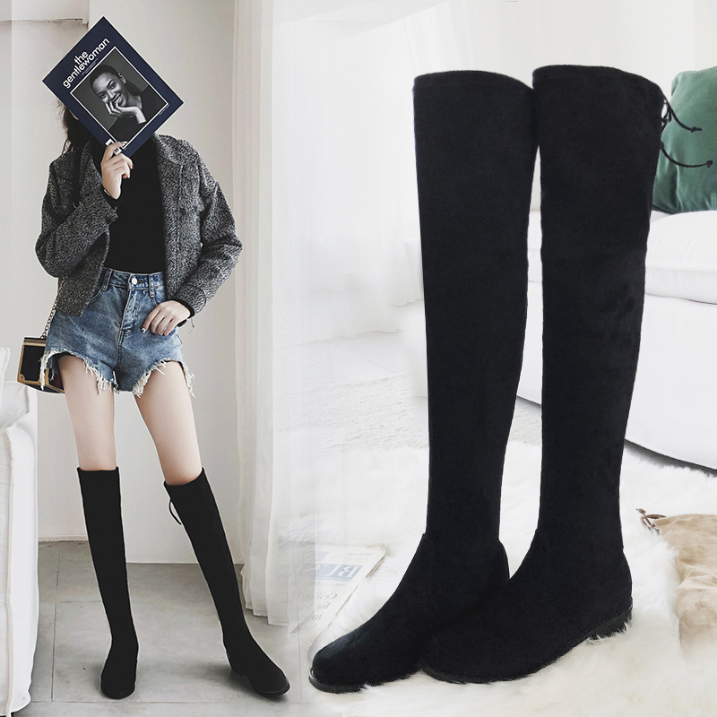 MYCOLEN 2018 Women Boots Long Winter Shoes High Quality Women Boots Over The Knee Elegant Boots Round Toe Boots Botas Mujer