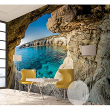 3D Wallpaper Cave Seascape
