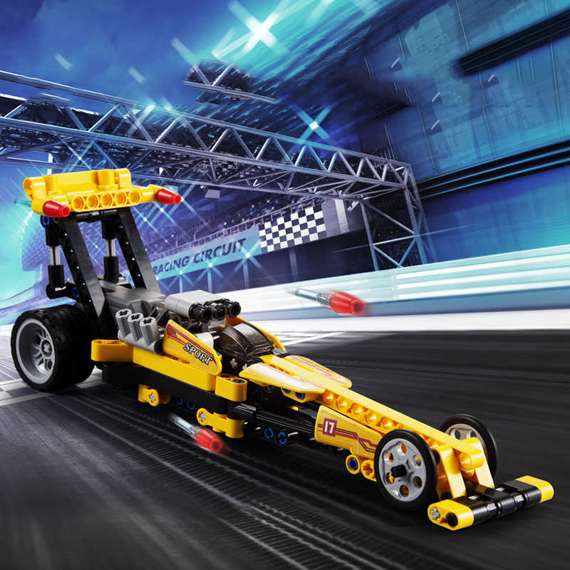 Racer Pull Back Car Technic F1 Racing Straight Speed Technician Building blocks Bricks Compatible Kid Toys For Children