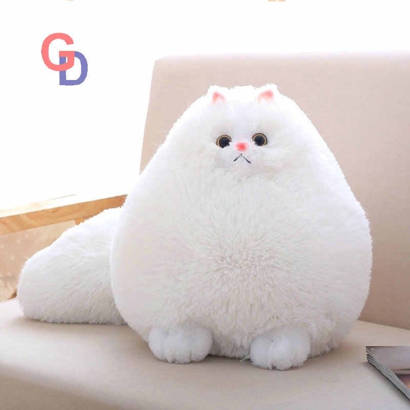 50676ec06b5 Detail Feedback Questions about Super Round Snow White Stuffed Persian Cat  Big Long Tail Plush Soft Cat Toys for Children home Decorate Simulation  animal on ...