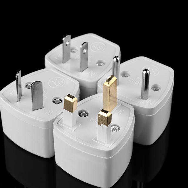 1PC Universal UK AU EU To US Plug Adapter Travel AC Power Electrical Converter 2 Flat Pin Socket Portable for Travel