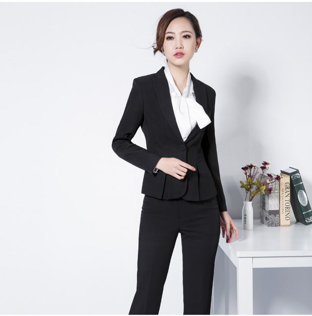 Best Design For Official Las Pant Suit Long Slevee Blazer And Trouser Ssuccessful Business Women Career