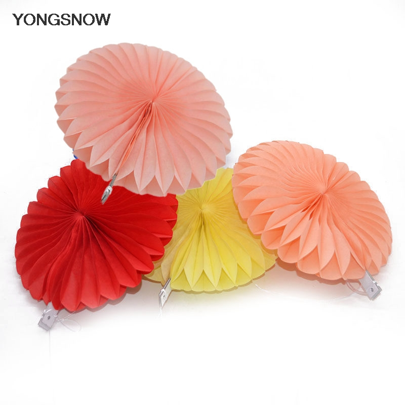 5pcs 20cm Tissue Paper Fans Decorative Flowers Paper Crafts DIY Event Wedding Birthday Party Baby Shower Decorations Supplies