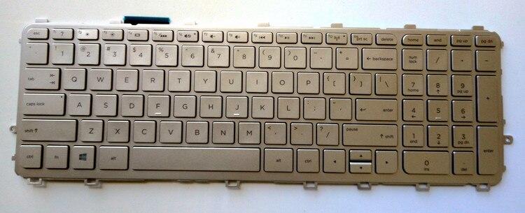 Nouveau pour HP ENVY M6-N M6-N015DX M6-N113DX M6-N168CA M6-N000 M6-N010DX M6-N012DX M6-w103dx clavier d'ordinateur portable rétro-éclairé en argent