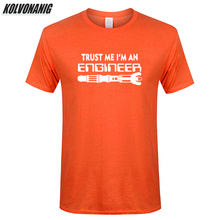 Trust Me I Am An Engineer Letters Print Men Science T Shirt Summer 2019 Mens Clothing Brand 100%Cotton Casual Custom Tee-Shirts