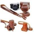 Черный/Коричневый/Кофе Цифровая Камера Кожаный Чехол для Panasonic GX85 GX80 GX 85 GX 80 Wth Хранения сумка Нижняя Открытие Случае