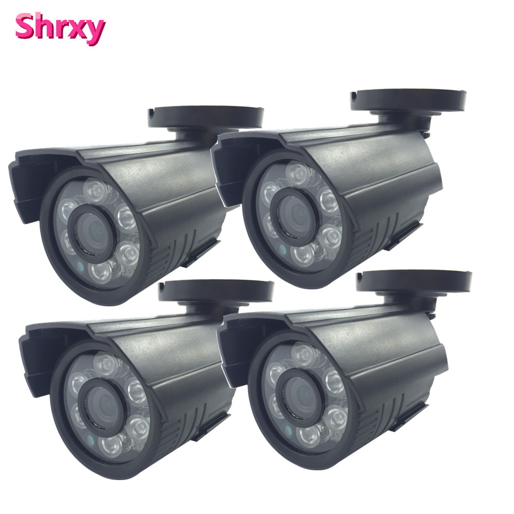 4pcs 1200TVL CMOS with IR-CUT Filter Switch 6 IR leds Day/night waterproof indoor /outdoor CCTV camera with bracket free shpping la mer collections lmduo1003x