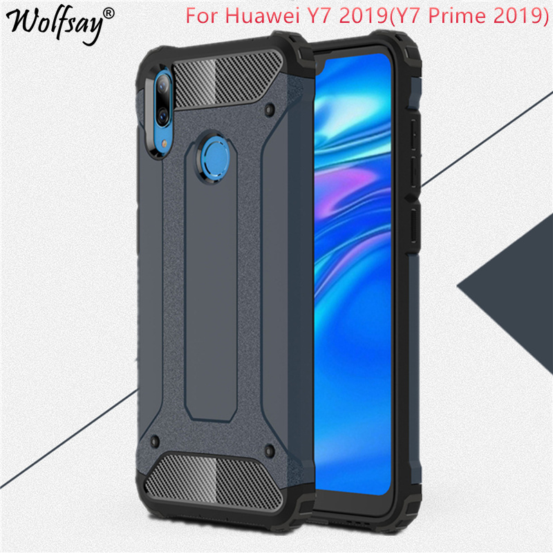 <font><b>Case</b></font> <font><b>Huawei</b></font> <font><b>Y7</b></font> <font><b>2019</b></font> <font><b>Case</b></font> <font><b>Huawei</b></font> <font><b>Y7</b></font> <font><b>2019</b></font> Cover 6.26 inch TPU+PC <font><b>Shockproof</b></font> Hybrid Armor Full Cover For <font><b>Huawei</b></font> <font><b>Y7</b></font> Prime <font><b>2019</b></font> <font><b>Case</b></font> image
