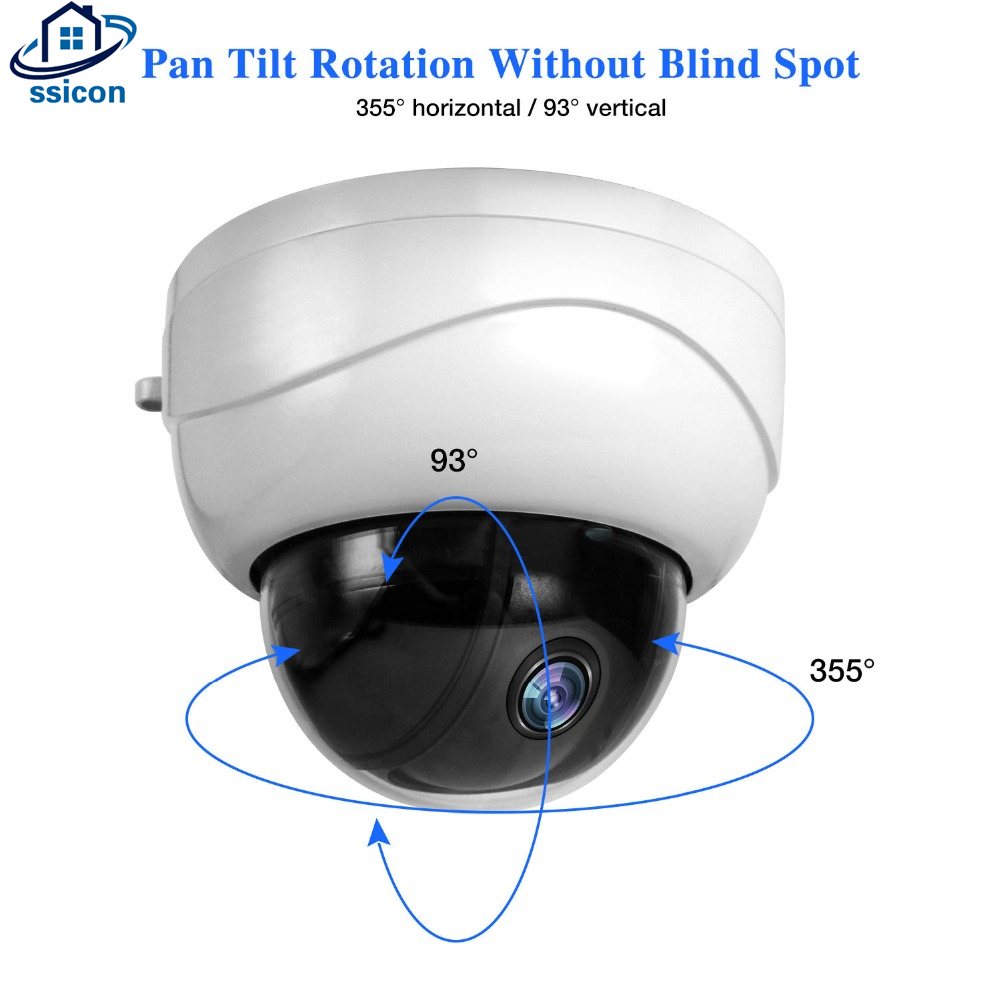 SSICON 2MP 4MP 2.8-12mm Lens Dome Mini PTZ IP Camera 2.5Inch Metal Motorized 4X Zoom Lens Video Surveillance POE CameraSSICON 2MP 4MP 2.8-12mm Lens Dome Mini PTZ IP Camera 2.5Inch Metal Motorized 4X Zoom Lens Video Surveillance POE Camera