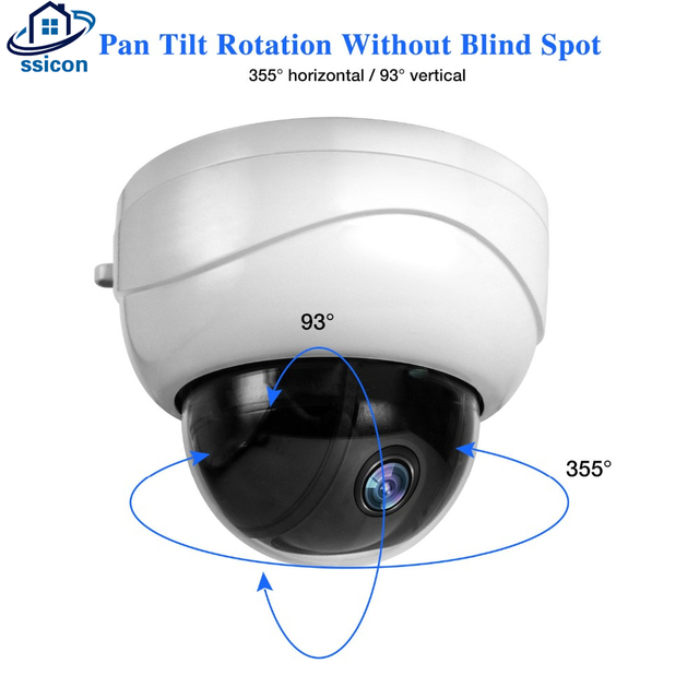 SSICON 2MP 4MP 2.8-12mm Lens Dome Mini PTZ IP Camera 2.5Inch Metal Motorized 4X Zoom Lens Video Surveillance POE Camera