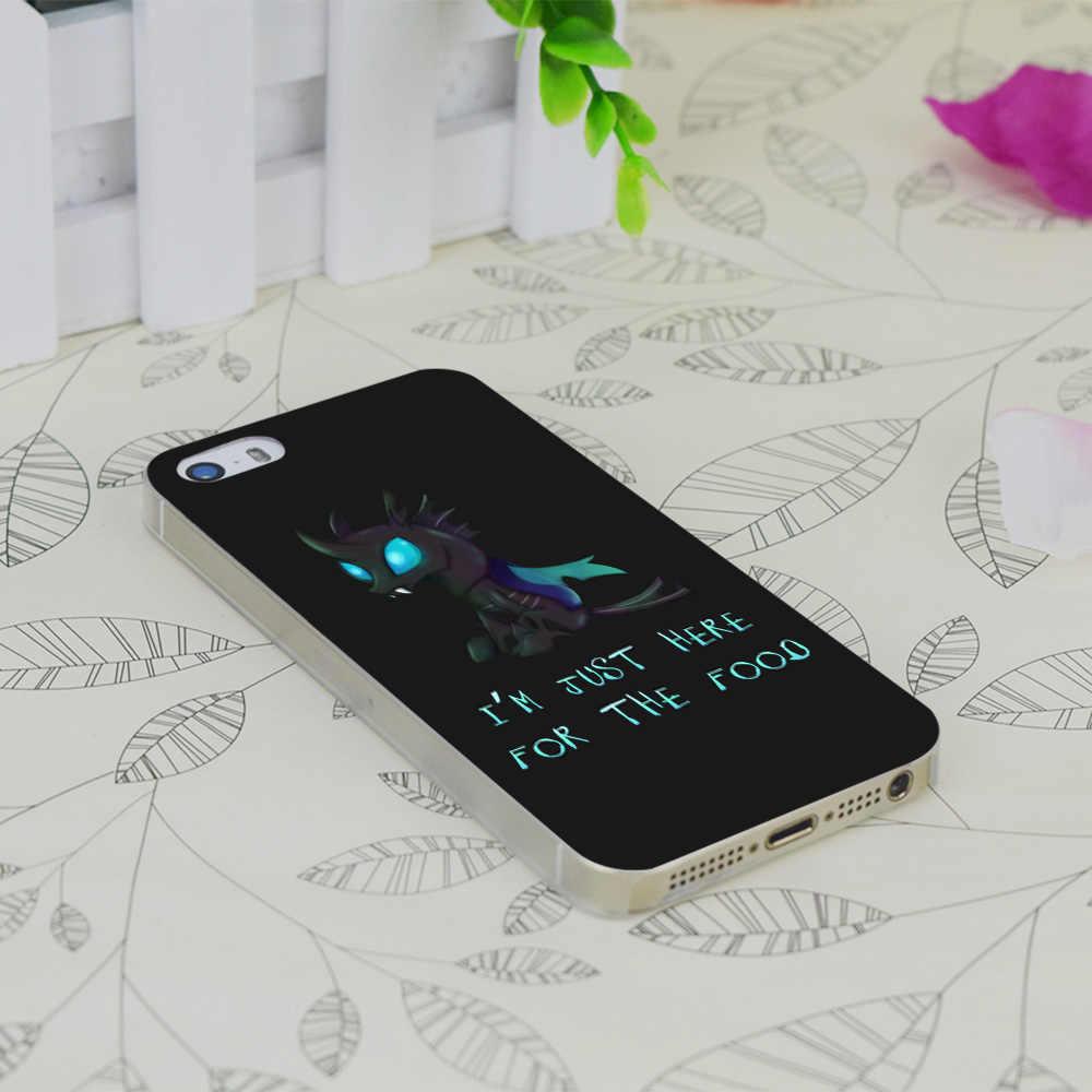 C0630 My Little Pony-Changeling Прозрачный Жесткий Тонкий чехол для крышки корпуса для Apple IPhone 4 4s 4G 5 5G 5S SE 5C 6 6 S Plus