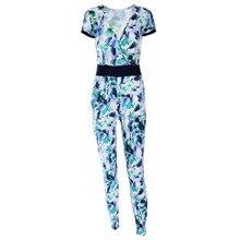 2017 Stylish Ladies Women Sexy Short Sleeve Print Jumpsuit