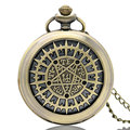 Anime Butler Kuroshitsuji Bronze Quartz Pocket Watch Chain Necklace Pendant Boy Men Gift