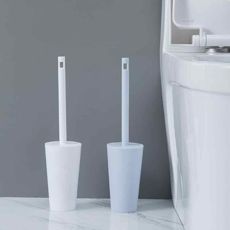 Długi uchwyt szczotki WC zestaw świeczników łazienka toaleta narzędzie do czyszczenia do montażu w podłodze, WC szczotka do toalety akcesoria łazienkowe