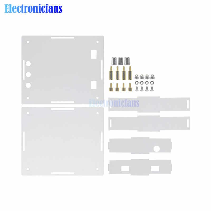 Tpa3116d2 tpa3116 120 w + 120 2*120 bluetooth 4.0 duplo canal estéreo áudio digital placa amplificador de potência acrílico caso escudo diy