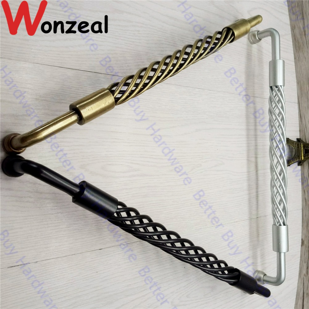 Hot seal black/antique Brass antique style birdcage handle/knob/pull for doors/cabinets/drawers chrome plated modern handle c c 192mm l 218mm h 23mm drawers cabinets