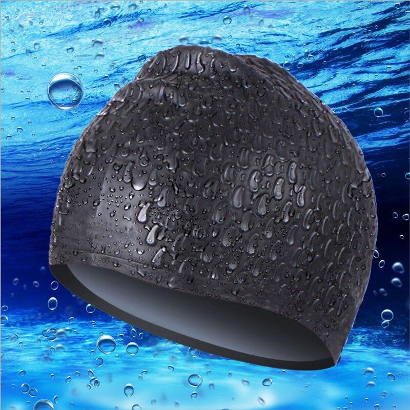 Gorros de natación impermeables para hombres y mujeres, gran tapón para los oídos, protegen los gorros de natación, gorro de natación de silicona