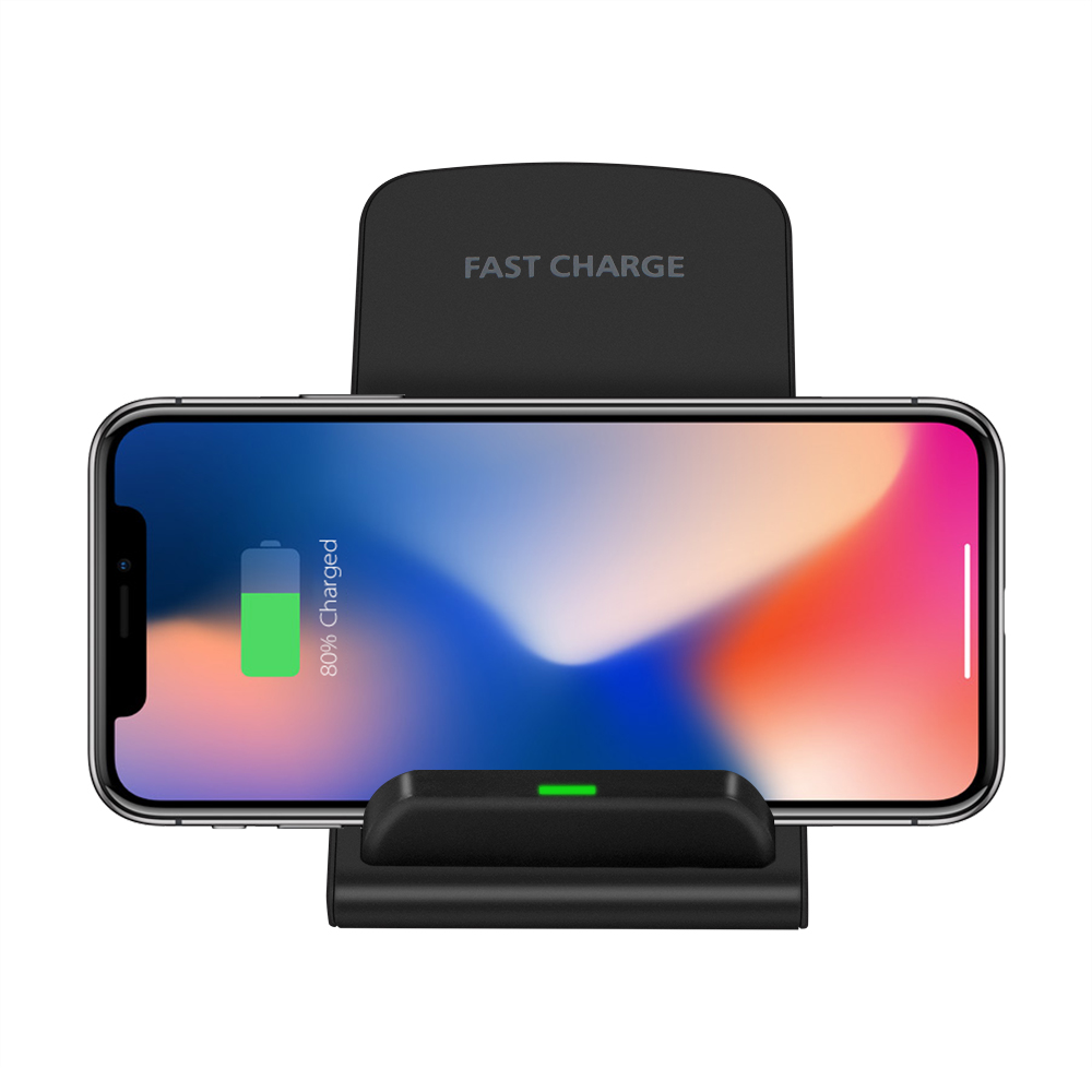 Powstro Qi chargeur sans fil Standard chargeur rapide support Dock pour iPhone XS Max XR 8 X Samsung S9 S8 S7