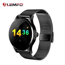 K88H Ronda Reloj Inteligente Bluetooth Clásico Metal de la Salud Smartwatch con Monitor de Ritmo Cardíaco para ISO Android Teléfono de La Cámara Remota