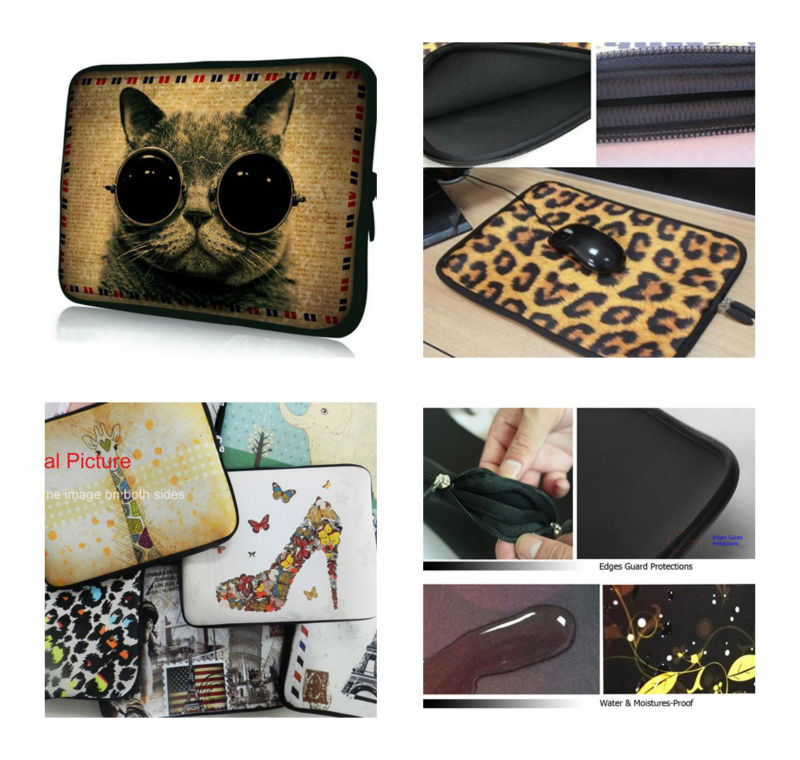 Purple Butterfly 11.6 12 Laptop Notebook Cover Bag For Macbook Air 11 Surface Pro 3 Computer Neoprene Bag For 7 10 12 13 15 17