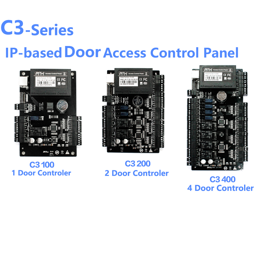 ZK C3 100/200/400 TCP IP Wiegand 26 Door Access Control Panel Board for security solutions access control System 30000Users-in Access Control Kits from Security & Protection