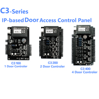 ZK C3 100/200/400 TCP IP Wiegand 26 Door Access Control Panel Board for security solutions access control System 30000Users